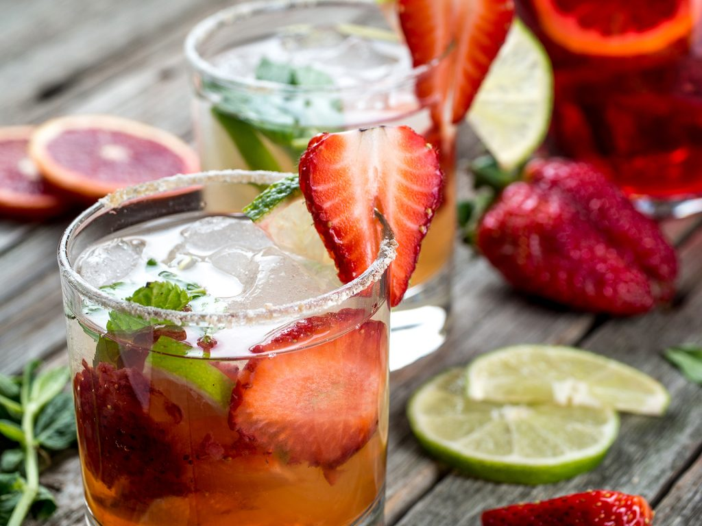Coctel San Valentin - Mojito de fresa