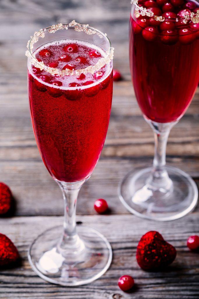 Coctel San Valentin - Coctel de vino espumoso